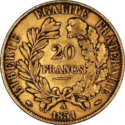 twenty franc gold coin